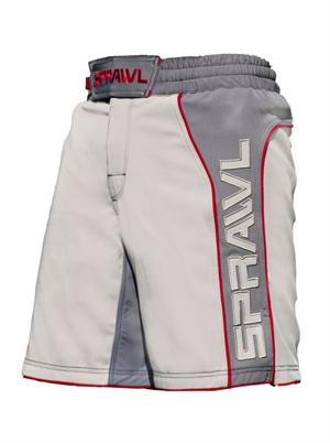 Fusion II Stretch Series Grey/Red Shorts